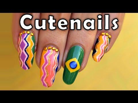nail art brazil design