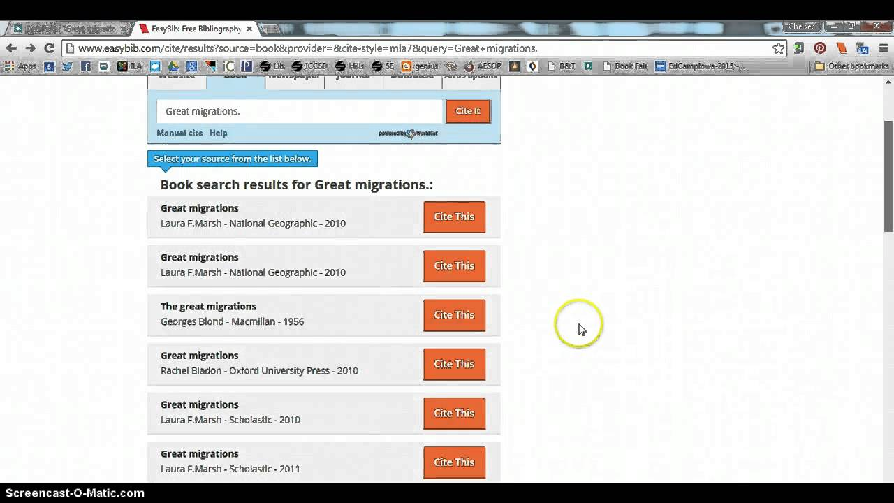 Citing a book with easybib youtube ccuart Image collections