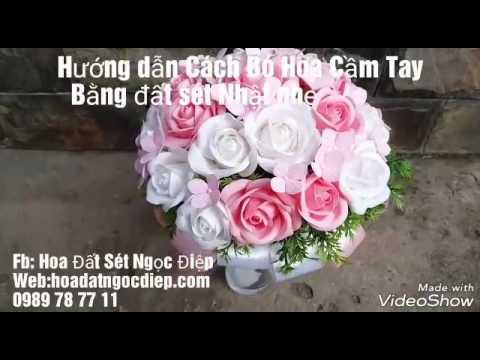 HƯỚNG DẪN BÓ HOA CƯỚI BẰNG ĐẤT SÉT NHẬT_ How to make bouquet clay