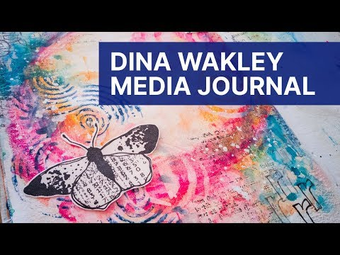 Dina Wakley Media Journal - Stamping With Neocolor Crayons