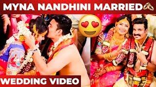 Myna Nandhini Gets Married To Nayagi Serial Actor Yogesh! Wedding Video