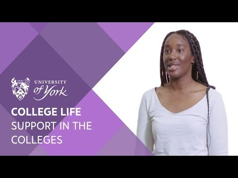 College Life: Support in the Colleges