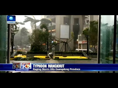 Typhoon Mangkhut Hit China's Guangdong Province Pt.4 16/09/18 |News@10|
