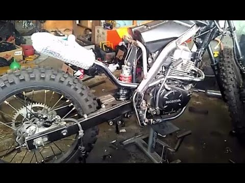 Proses Modifikasi Honda MegaPro 2013, Custom Trail Body KTM 250 (Part 1)