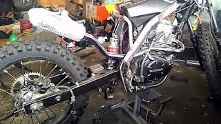 Proses Modifikasi Honda MegaPro 2013, Custom Trail Body KTM 250 (Part 1)