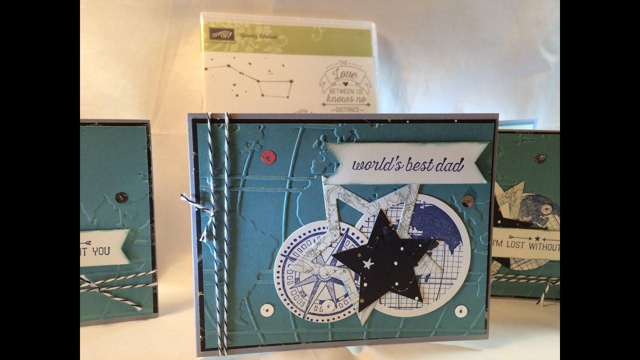 Stampin UP! Going Global Card - YouTube