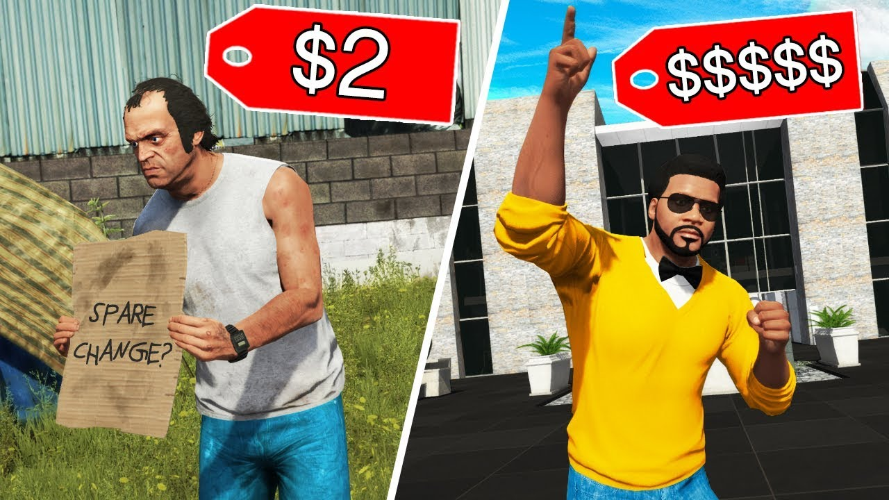 GTA 5 - HOMELESS vs BILLIONAIRE! (Lifestyle Mod)