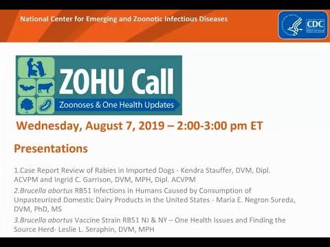 CDC ZOHU Call August 7, 2019