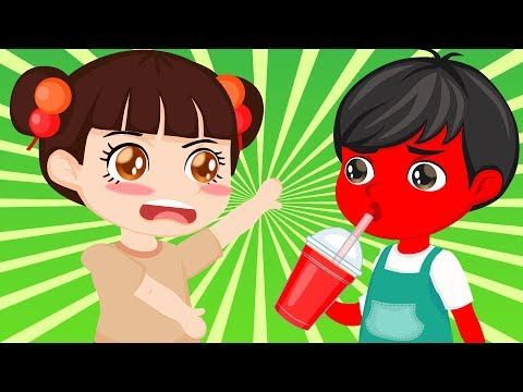 Learn colors with JOHNY JOHNY Yes Papa Nursery Rhymes & Color FACE | Lollipop CAF