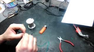 Пайка провода без паяльника. Soldering wires without soldering iron(Лёгкий способ паять без паяльника., 2015-03-10T16:52:49.000Z)