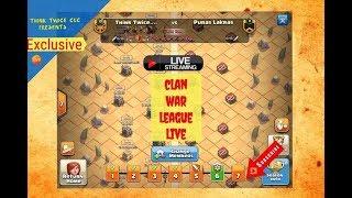 Clan war league live attack cwl // clash of clans