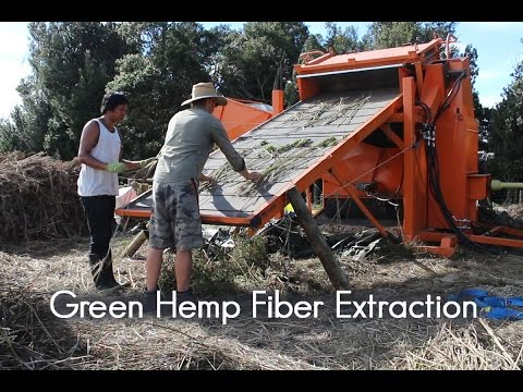 World's first fresh hemp fiber decorticator - Organic Hemp