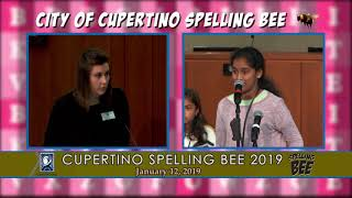 City of Cupertino Spelling Bee 2019