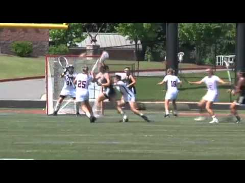 Atlanta - Zoe Boger of Roswell High scores a goal in GHSA 5A Girls Lacrosse Championship
