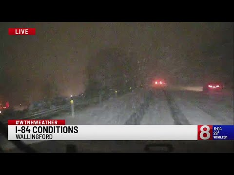 Wintry Weather Coats Roads Across Connecticut With Snow