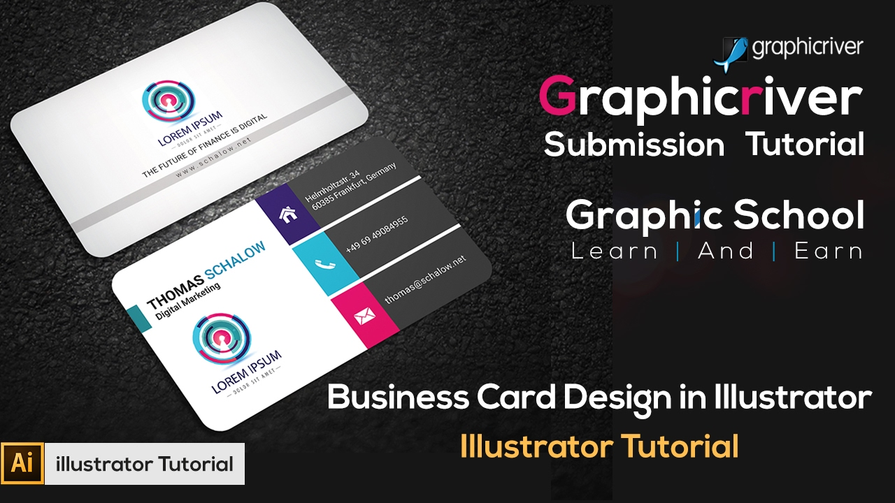 How To Make A Business Card Design in Illustrator | Illustrator ...