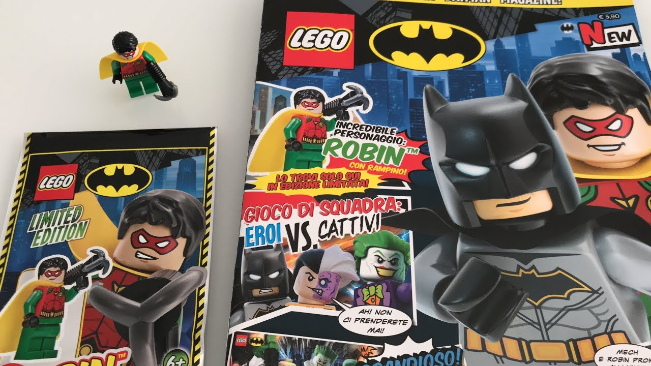 LEGO® The Batman Movie Magazin Nr 3 mit Superman Minifigur /& Sammelkarten NEU