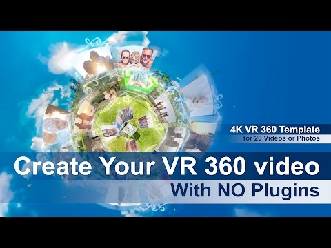 VR 360 Template for Photo, Video Album NO PLUGINS required. Create your own VR360 video for Youtube