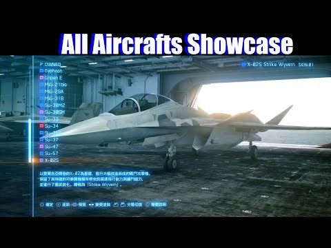 Ace Combat 7 - All Planes Unlocked Showcase (Ace S Rank All Missions Cleared)
