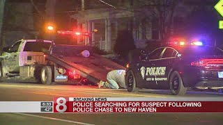New Haven police search for suspect after pursuit from Bridgeport