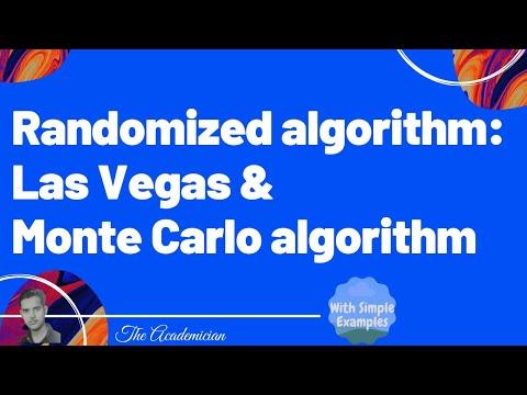 Randomized algorithm  Las Vegas and Monte Carlo Algorithm