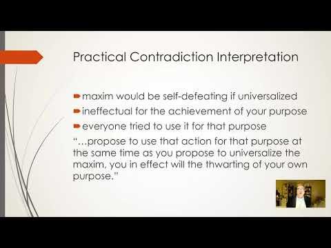 "Christine Korsgaard's ""Kant's Formula of Universal Law"": Presentation by Phil Jenkins"