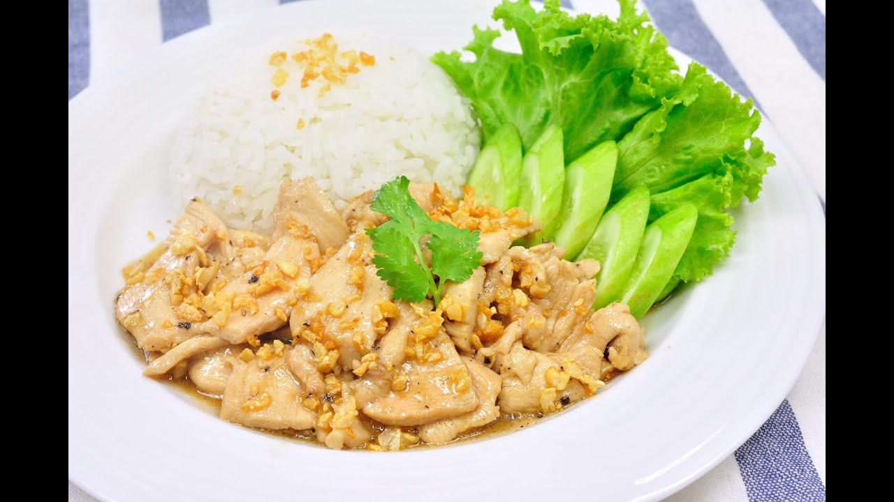 Garlic and pepper chicken gai gratiem prik thai garlic and pepper chicken gai gratiem prik thai youtube forumfinder Choice Image