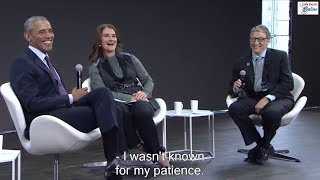 Learn English via Conveŗsation with Barack Obama, Bill Gates and Melinda Gates - English Subtitles