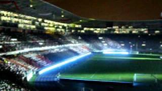 Inaguracion del estadio nacional -Lima Perú 2011 - Cantando el himno nacional