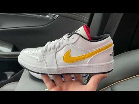 Air Jordan 1 Low White Multi Color Swoosh Shoes Youtube