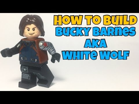 LEGO Winter Soldier Bucky Barnes Minifigure Marvel Avengers End Game