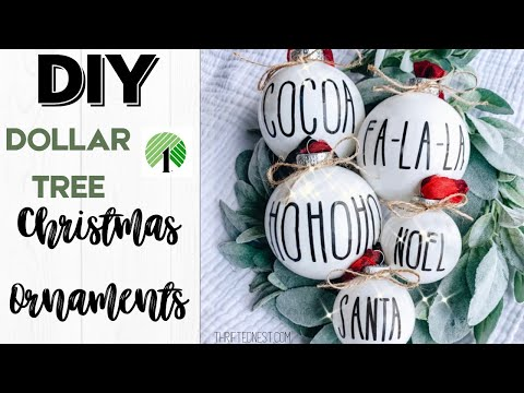 DOLLAR TREE Christmas Decor 2019 | DIY Christmas Ornaments