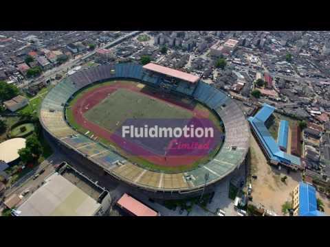 Aerial View Teslim Balogun Stadium Lagos