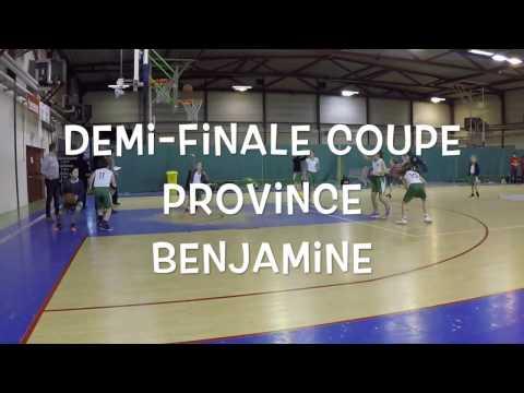 Basket demi finale coupe provinciale benjamine 2017 :  Sprimont vs Liège