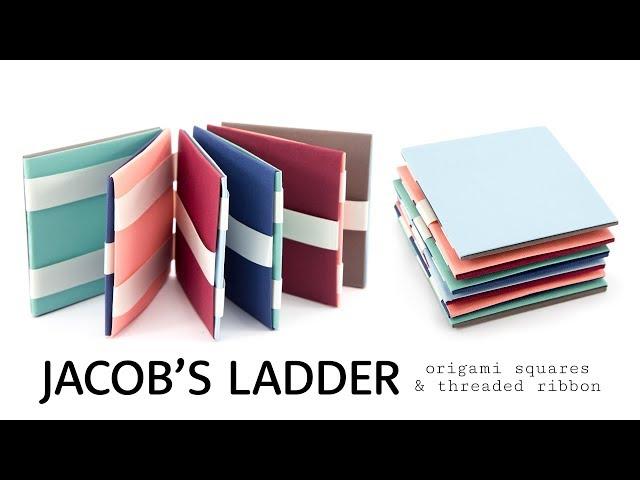 DIY Jacob\'s Ladder Tutorial - Origami Squares & Threaded Ribbons - Paper Kawaii