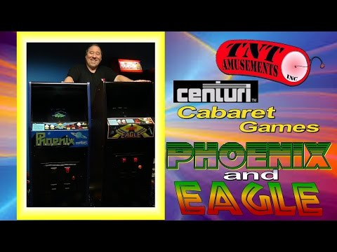 #1171 Centuri PHOENIX & EAGLE Rare CABARET MINI Arcade Video Games - TNT Amusements