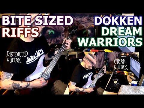 Bite Sized Riffs | Dokken - Dream Warriors | Intro & Verse Guitars