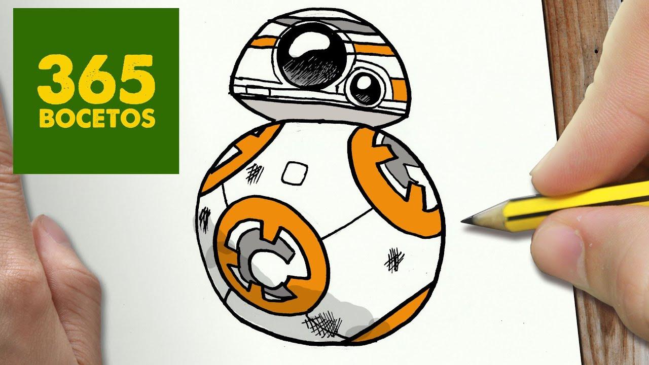 Como Dibujar Bb 8 De Star Wars Kawaii Paso A Paso Dibujos Kawaii Faciles How To Draw A Bb 8