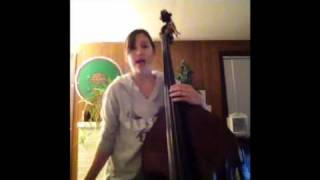 Double bass tuned in fifths with high E string