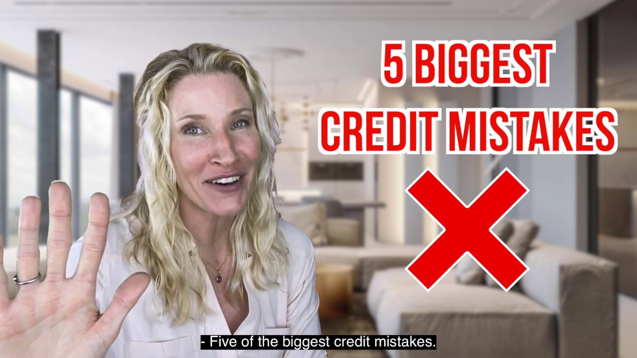 5 of The Biggest Credit Mistakes you MUST NOT Make! ✅ 🔥🚧