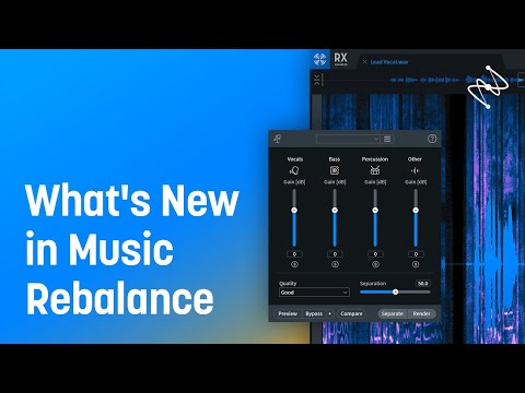 What's New in Music Rebalance in RX 8 | iZotope