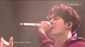 180113 Jackson Wang - Okay Live performance @ Tencent Open Fire Concert