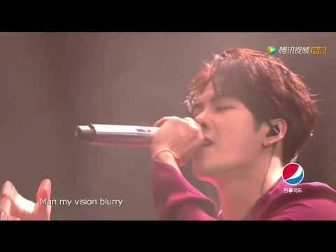 180113 Jackson Wang - Okay Live performance @ Tencent Open Fire Concert