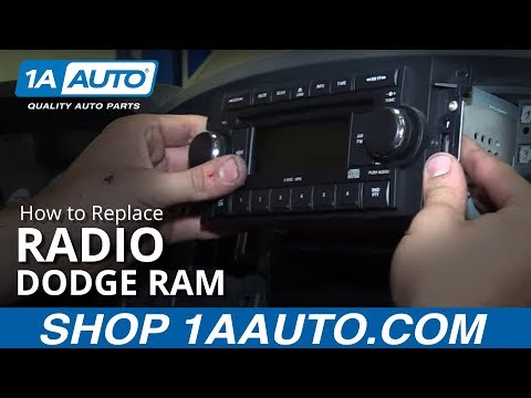 How to Replace Radio 02-08 Dodge Ram 1500