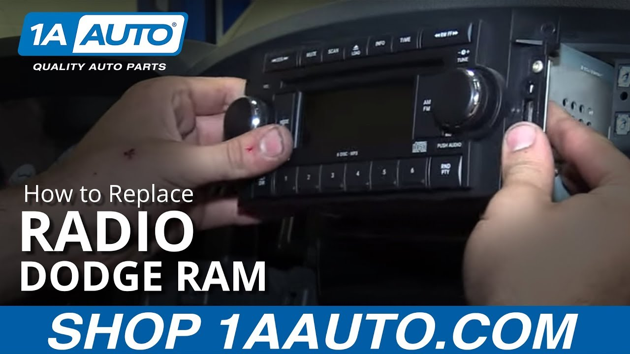 How To Replace Radio 02 08 Dodge Ram 1500 Youtube