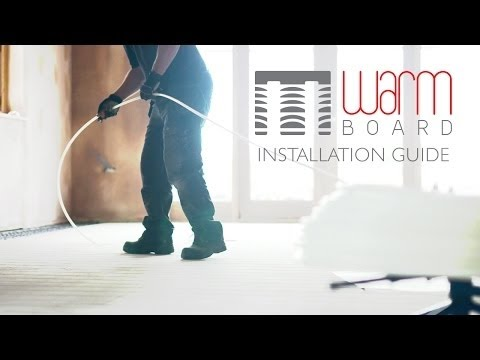 How to Install the WARM-BOARD Underfloor Heating System