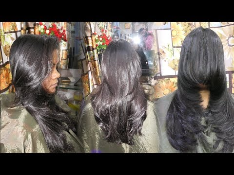 PERFECT LONG LAYERED HAIRCUT STEP BY STEP