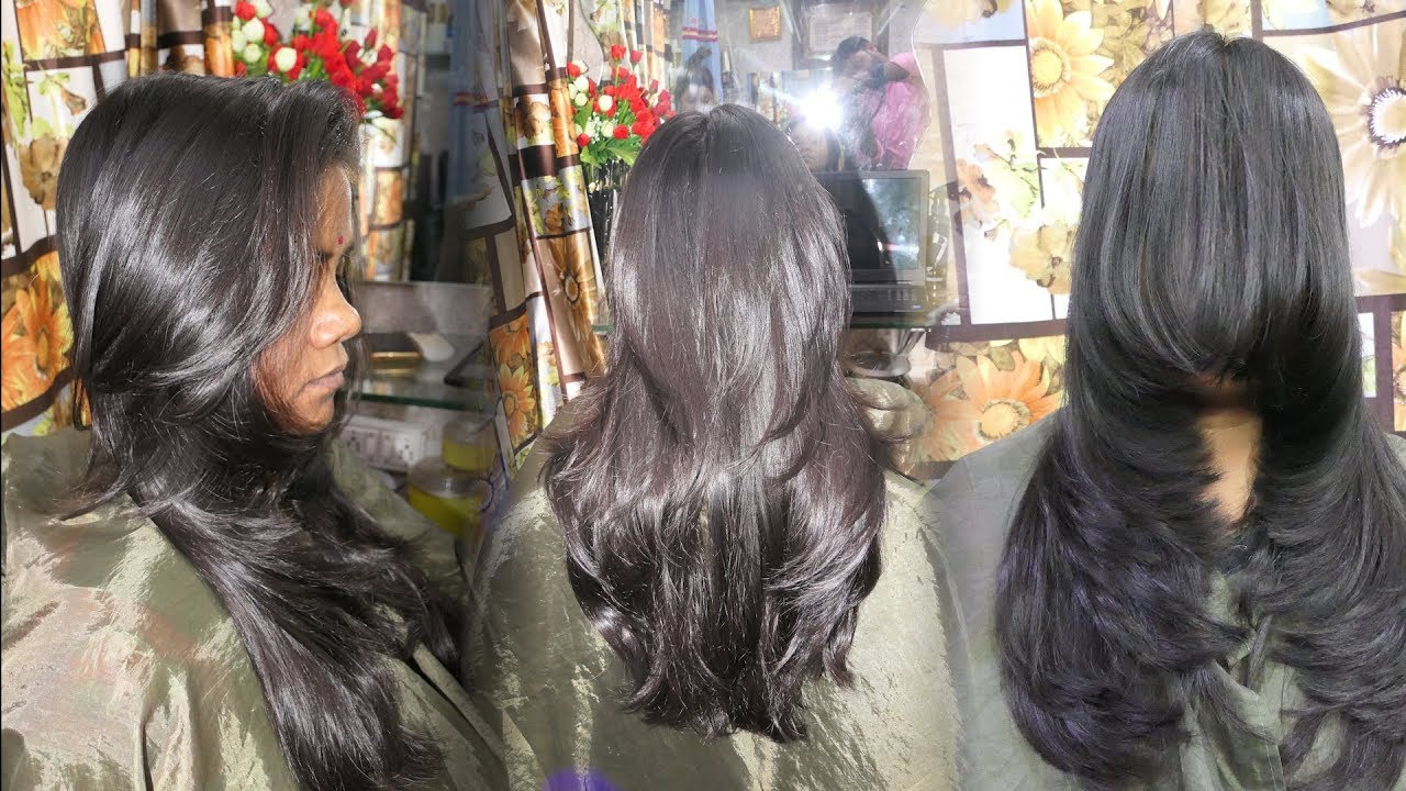 Styling Long Layered Hair: PERFECT LONG LAYERED HAIRCUT Step By Step