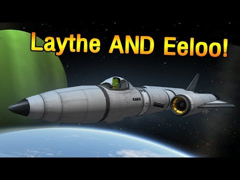 SSTO to Laythe AND Eeloo in KSP 1 3 - no mining!