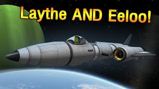 SSTO to Laythe AND Eeloo in KSP 1.3 - no mining!